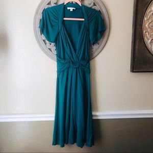 Banana Republic 100% silk turquoise dress